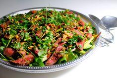 Thai Beef Salad Thai Beef Salad, Thai Salads, Seaweed Salad, Chili, Steak, Mango, Food And Drink, Ethnic Recipes, Peanuts