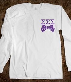 Sigma Sigma Sigma Long Sleeve Tee - Sigma Sigma Sigma Bows Sorority Shirts. CLICK HERE to purchase :) Buy 1 or 100!