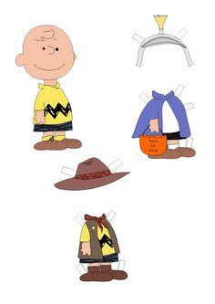 Peanuts: Charlie Brown paper doll  / PUFF PAINT ON SWEATSHIRT