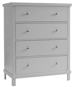 Sealy Contemporary 4 Drawer Dresser   Tranquility Gray