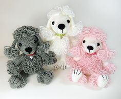 Pandora the poodle amigurumi crochet pattern by Janine Holmes at Moji-Moji Design
