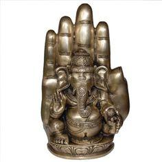 Amazon.com: Religious Gift God Ganesha Statue Brass Sculpture Hindu Art 4.25 x 2 x 9 Inches.75 x: Furniture & Decor