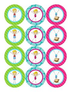 gymnastics cupcake toppers - Google Search