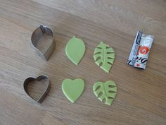How to make jungle leaves out of fondant, cookie cutters, and a coke can