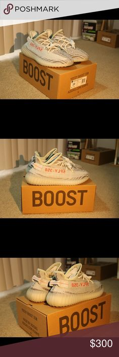Adidas Yeezy Boost 350 blue tint Yeezy boost 350 V2 blue tint DEADSTOCK Brand new, Never worn  Comes in with a box and everything  Size 10 & 11 only one left ! Shoot me an offer if interested Leave a comment for my number Yeezy Shoes Sneakers