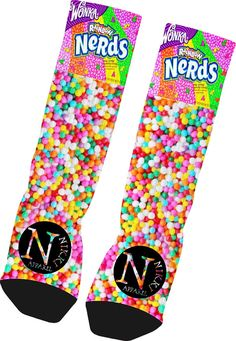 Custom Nerds Candy Socks Custom Nike Elite Socks by NikkisNameGifts, $18.00