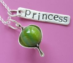 Princess And The Pea Necklace by sudlow on Etsy