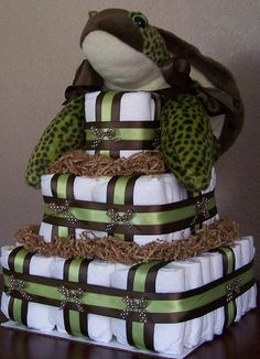 Sea turtle diaper cake