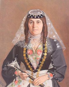 Pastel portrait of Mariam Chalamian by Enovk Nasariants (1897) from the National Gallery of Armenia (Yerevan)