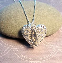FAITH Essential Oil Diffuser Necklace  Heart Shaped by EverTrend, $21.00