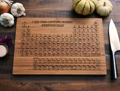 Periodic Table Engraved Bamboo Cutting Board