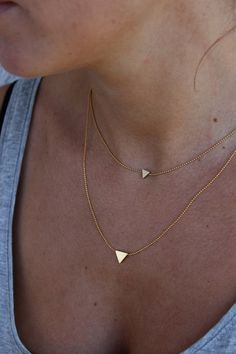 Ketten kurz - Kurze Kette Dreieck (groß) //vergoldet// - ein Designerstück von Bohani bei DaWanda