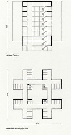 Simon Ungers, Silent Architecture [Library section and plan], 2003-2004; inkjet print on paper mounted on Fortex | Source: San Francisco Museum of Modern Art
