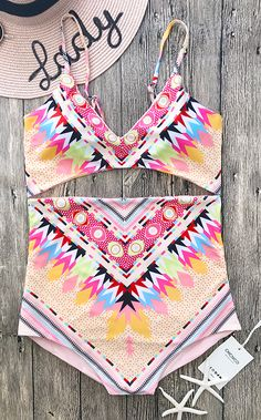 Look great in this high waist bikini! this cute swimsuit is perfect for summer.