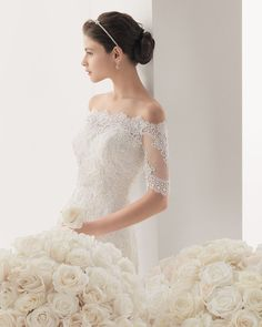 Wedding 2017 new words in the shoulder sleeves thin tail tail wedding dress tail can be customized wedding dress