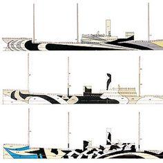 Dazzle Ships Dazzle Camouflage, Razzle Dazzle, Battleship, Ships, Navi, Patterns, Ds, Painting, Colour