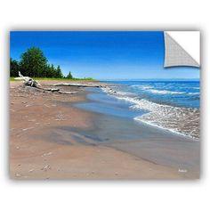 ArtAppealz Ken Kirsch Driftwood Beach Removable Wall Art, Size: 14 x 18, Blue