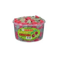 Haribo sour cherries ❤ liked on Polyvore featuring food