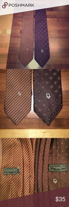 ⚡️Sale Christian Dior Men's neckties Vintage Christian Dior brown & orange neckties Christian Dior Accessories Ties