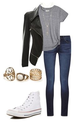"""""""Untitled #125"""" by emma-martin123 on Polyvore featuring DL1961 Premium Denim, Converse and House of Harlow 1960"""