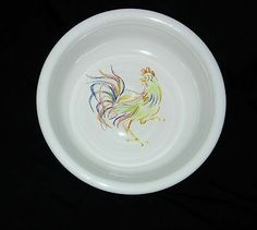 *RARE* Retired Fiesta *ROOSTER* BOWL Fiestaware New LQQK