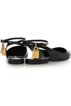 Tom Ford | Patent-leather point-toe flats | NET-A-PORTER.COM