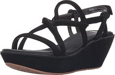 Camper Women's Damas Strappy Wedge Sandal, Black, 41 EU/11 M US *** Check this awesome product by going to the link at the image.