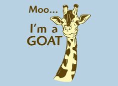 Moo, I'm A Goat T-Shirt by SnorgTees. Men's and women's sizes available. Check out our full catalog for tons of funny t-shirts.