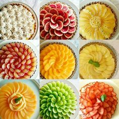 100 Best Fruit Tart Samples A classic French fruit tart is one of those understatedly beautiful desserts that just about everyone loves. Its the perfect make-ahead dinner part. Fruits Decoration, Dessert Decoration, Tart Recipes, Sweet Recipes, Dessert Recipes, Beautiful Desserts, Food Platters, Best Fruits, Mini Desserts