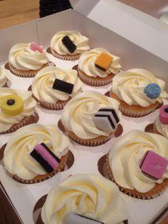 Liquorice allsorts cupcakes.