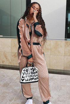 ecc2b450b51 Beyoncé poses in a SACAI Jumpsuit Beyonce Coachella