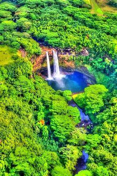 Waterfalls – Amazing Creation of Nature - Wailua Falls, Kauai, Hawaii
