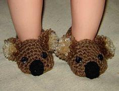Koala Bear Booties, Photo prop - Crochet Pattern 55 - $3.99 by Cathy Ren