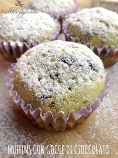#Muffins con #gocce di #cioccolato - Molliche di zucchero