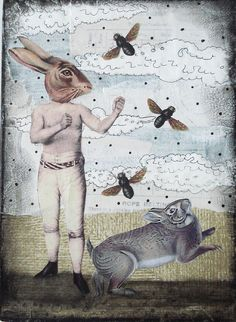 """Come Back Here and Fight!"" #collage by Sarah Ogren"