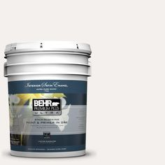 BEHR Premium Plus Ultra 5-gal. #W-B-600 Luster White Satin Enamel Interior Paint