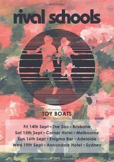 Rival Schools Australian tour - Details at http://www.bombshellzine.com/blog/2012/06/rival-schools-announce-additional-tour-dates/