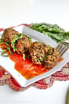 A meat-free dinner the most carnivorous eater will enjoy. Four-ingredient, vegan, eggplant balls are a hearty and warm meal for a cozy Meatless Monday meal!