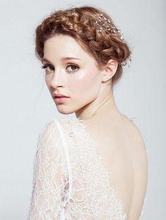 WEDDING HAIR – BRIDAL BRAID – Celina Christensen #BridalAccessories