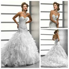 Ball Gown Sweetheart Silver Embroidery Drop Waist Long Train Crystal Wedding Dresses 2013