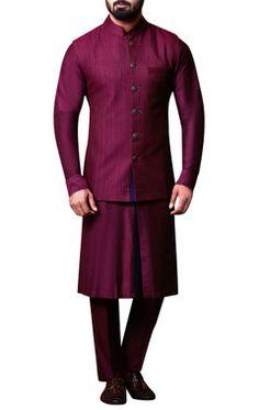 Buy Designer Nehru Jackets for Men - Aza Fashions Nehru Jacket For Men, Nehru Jackets, Men Dress Up, Indian Fashion, Mens Fashion, Kurta Men, Style Diary, Indian Suits, Plum Purple