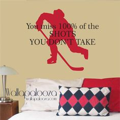 Hockey sur Wall Decal citation de WAYNE par WallapaloozaDecals