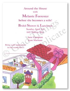 Household Shower Decorations | Favorite Around The House Bridal Shower Invitations