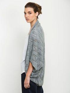 Frauen grauen Strickjacke von Andy Ve Eirn auf DaWanda.com