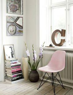 pastel pink Eames DSR
