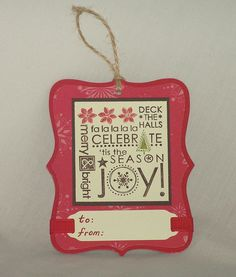 stampin up tags - Google Search