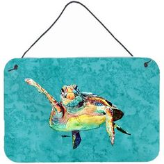 """Caroline's Treasures Turtle by Coe Steinwart Painting Print Plaque Size: 8"""" H x 12"""" W x 0.02"""" D"""