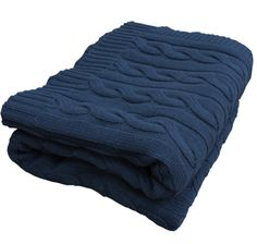 William black 100% soft cotton cable knit throw 180cm x 150cm Only $89 retail from Monché