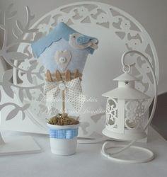 Enfeite de mesa passarinho - Dellicatess for Babies: