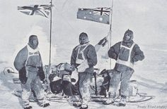 Shackleton: The support party for the Southern Sledging Party (L-R): John Hunter, Herbert Murphy and Charles Laseron, 1912.